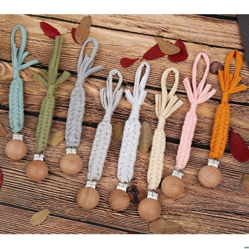 Braided Cotton Rope Nipple Holder Baby Pacifier Clips Chain Nipple Holder Soother Chain For Infant Kids
