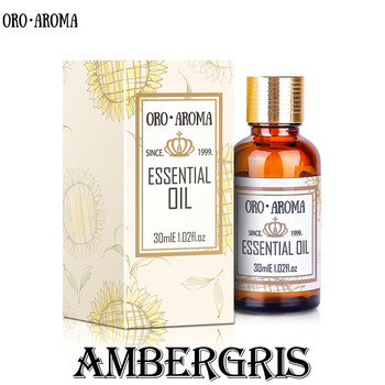 Famous brand oroaroma natural aromatherapy Ambergris essential oil Perfume raw materials Ambergris oil akarz famous brand natural aromatherapy basil oil improve spirit stabilization effect firming oil balance basil essential oil