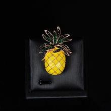 Женская Брошь в виде ананаса серебро 925 пробы