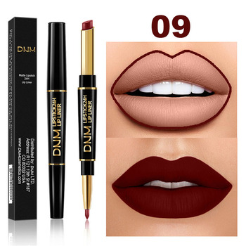 Waterproof Matte Lipstick Pencil Lip Liner Makeup  1