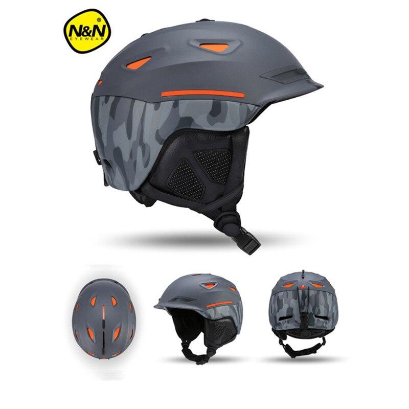 NANDN Unisex Ski Helmet Breathable Ultralight Skiing Cap For Men Women Snowboard Skateboard Winter Outdoor Sports Safety Hat