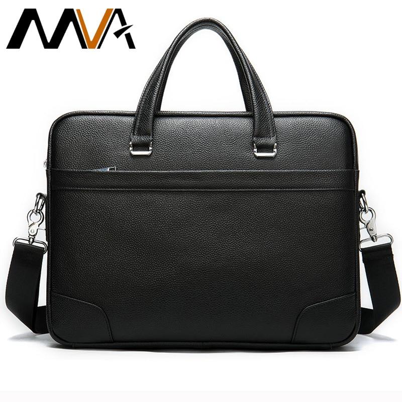 MVA Bag Men's Briefcase Genuine Leather Laptop Bag Men Leather Office Bags For Men Handbag Business Bag For Documents Bags Male
