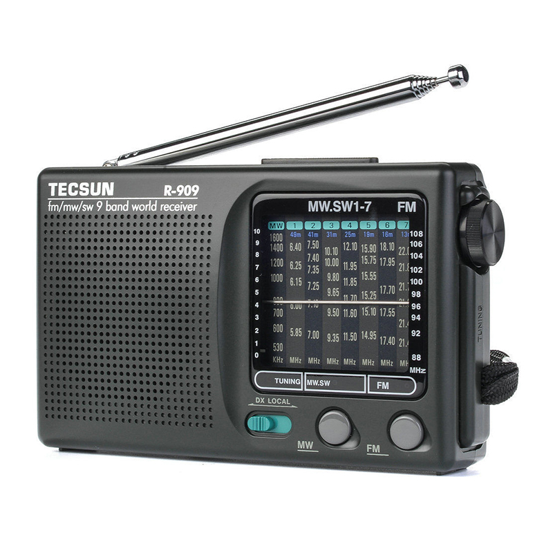 2019 Newly Tecsun R-909 R909 Radio FM / MW / SW 9 Band Word Receiver Portable Radio tecsun R909 Stereo radio convenient radio
