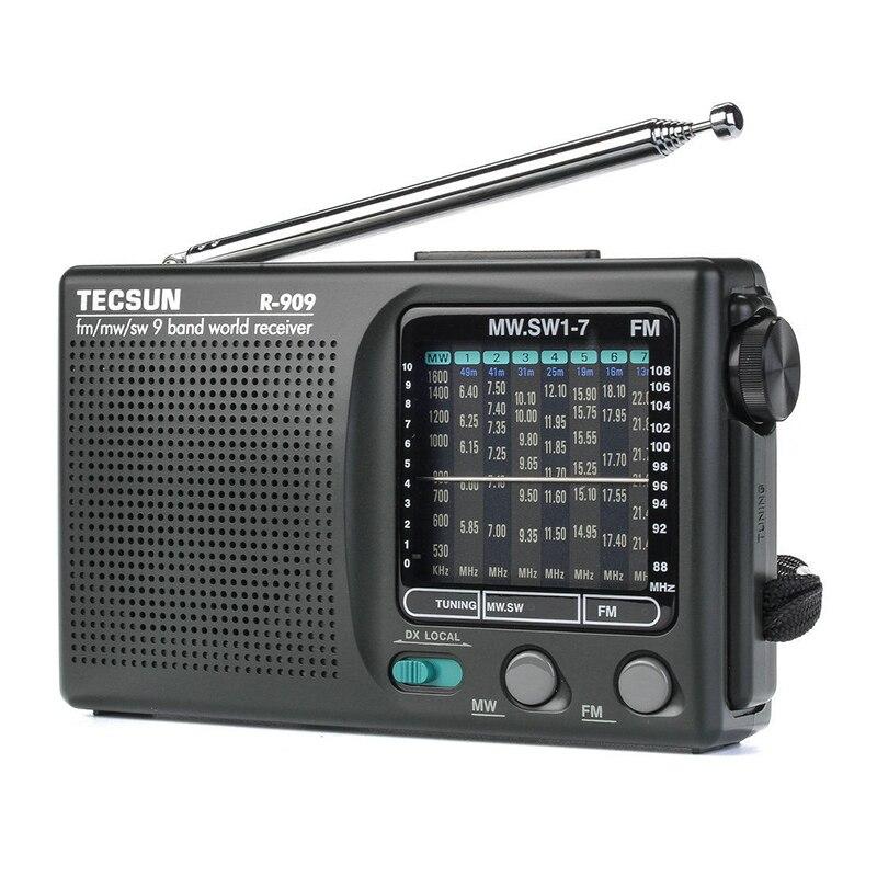 Новинка 2019 Tecsun R 909 R909 радио FM / MW / SW 9 диапазонный приемник слов портативное радио tecsun R909 стерео радио удобное радио|Радиоприёмники|   | АлиЭкспресс