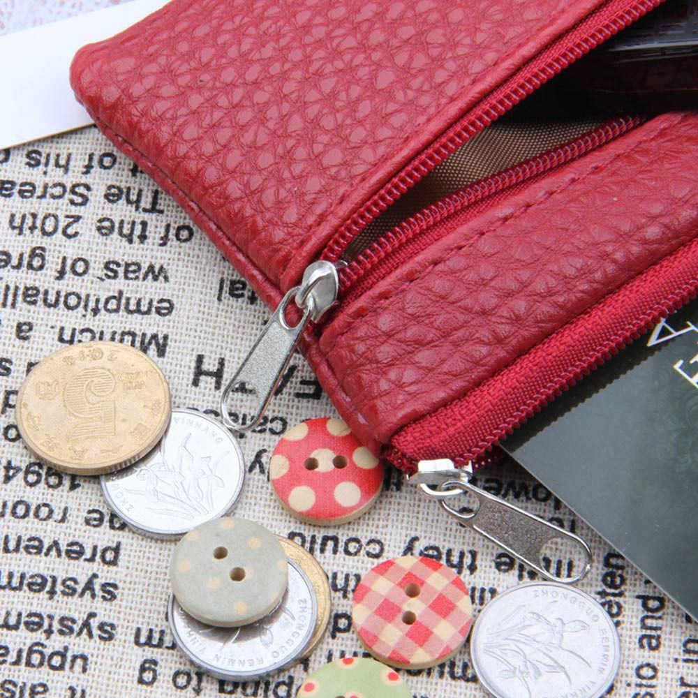 Cartera de cuero multifuncional para hombres y mujeres, monedero de moda con cremallera, mini cartera, Linda tarjeta, monedero pequeño, cartera, soy luna