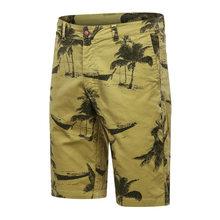 2021 New Summer Cargo Shorts Men Fashion Cotton Board Shorts Men Breathable High Quality Printed Man Beach Shorts