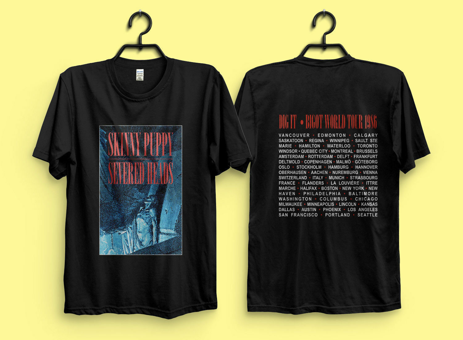 SKINNY PUPPY Dig It Bigot Tour 1986 Severed Heads T-Shirt  New Selling