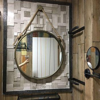 Miroir Vintage fer art chanvre corde