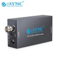 eSYNiC SDI To HDMI Converter 5V 12V Support SD SDI/HD SDI/3G SDI For Display HDTV Projector Audio Video Adapter Full HD 1080P|  -