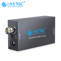 eSYNiC SDI To HDMI Converter 5V 12V Support SD SDI/HD SDI/3G SDI For Display HDTV Projector Audio Video Adapter Full HD 1080P