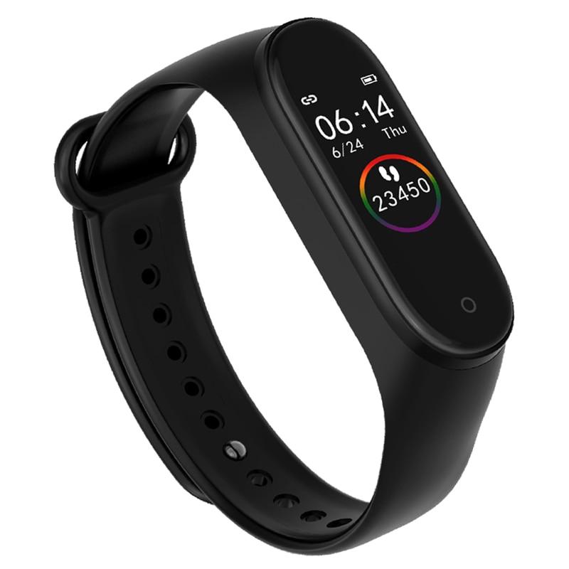 M4 bande intelligente 4 Fitness Tracker Horloge Sport brassard Hartslag Bloeddruk Smartband moniteur Gezondheid Polsband PK mi bande 4
