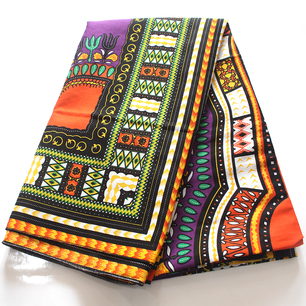 2019 African Dashiki Purple Printed  Color 100% Cotton African Ankara Holland Fabric