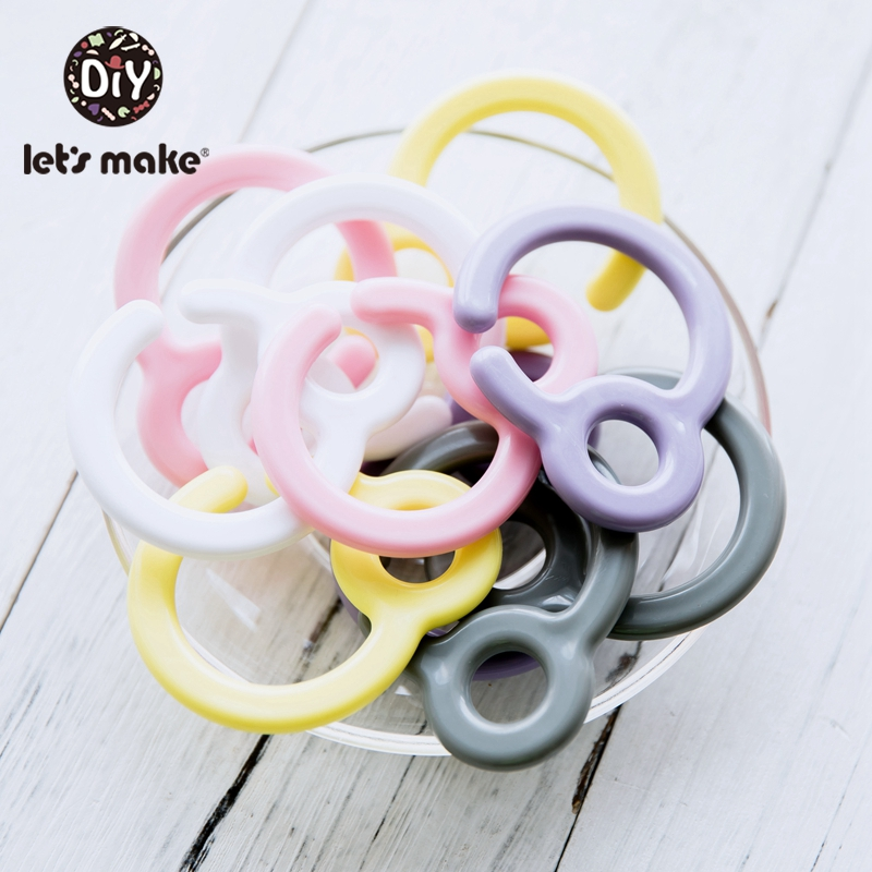 Let'S Make 200Pc Plastic Double Buckle Pacifier Chain Personalized Pacifier Clip Baby Bed Hanging Rattles Stroller Toys For Baby