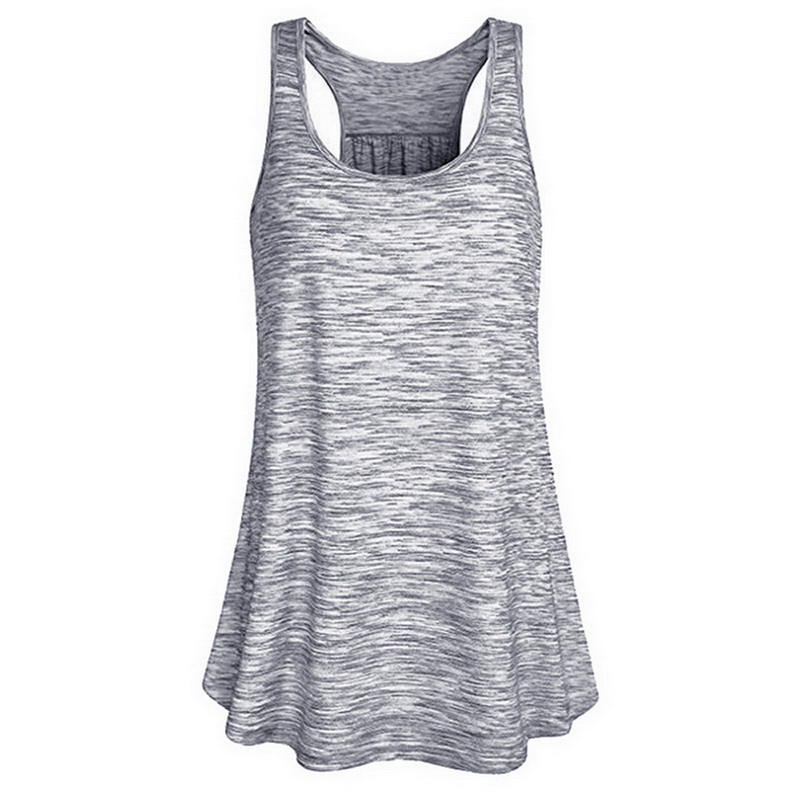 LoozykitNew 2020 Summer Women Vest Sleeveless Shirt I-Shaped Back Tanks Quick Dry Running Elastic Breathable Loose Jogging Tops
