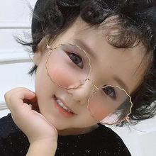 Солнцезащитные очки с милыми цветами Детская Металлическая оправа