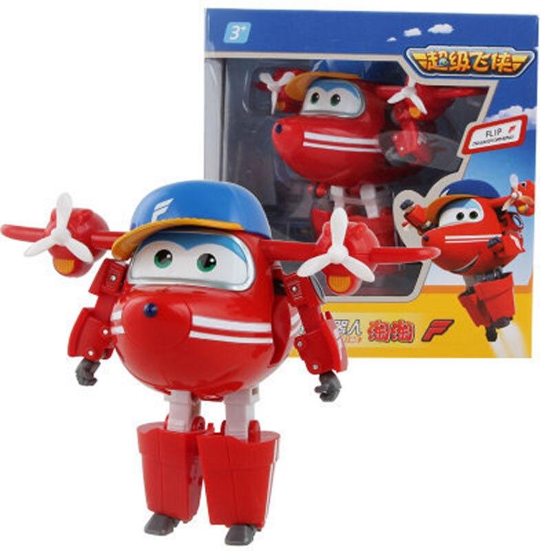 Большой! 15 см ABS Супер Крылья деформация самолет робот фигурки Супер крыло Трансформация игрушки для детей подарок Brinquedos - Цвет: With Box FLIP