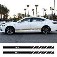 Autocollant pour jupe latérale de porte, 2 pièces, pour Lexus RX 300 330 IS 250 300 GX 400 460 UX 200 NX LX LS GS ES CT200h Fsport, accessoires de voiture