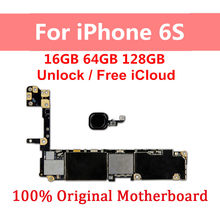 For iPhone 6S Motherboard Unlocked Motherboard For iPhone 6s Unlocked Logic Boards With Touch ID With Full Chips(China)