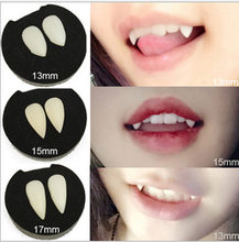 Vampire Teeth Fangs Dentures Props 4 size Halloween Costume Props Party Supplies Holiday DIY Decorations Horror Adult For Kids(China)
