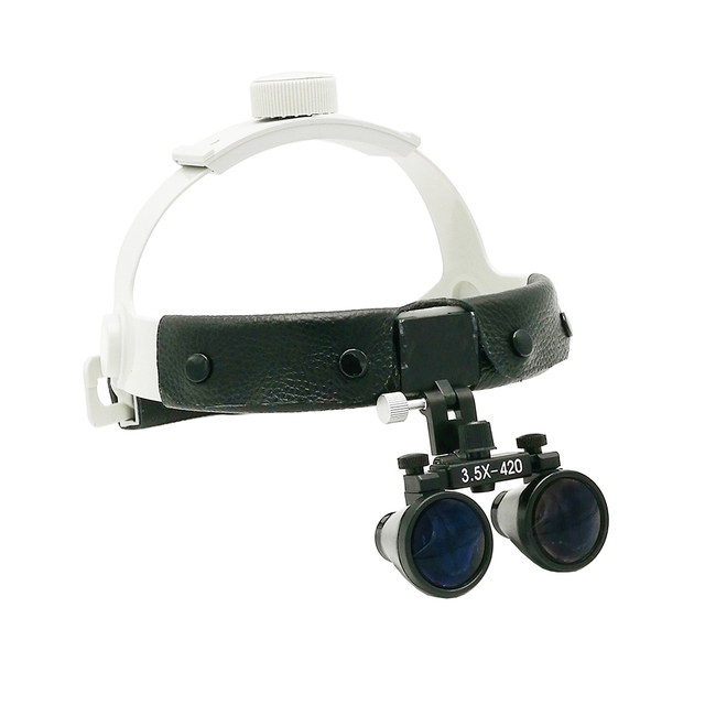 Dental Instruments Binocular Headband Loupes Magnifying Glass For Surgery Tools 3.5X420mm