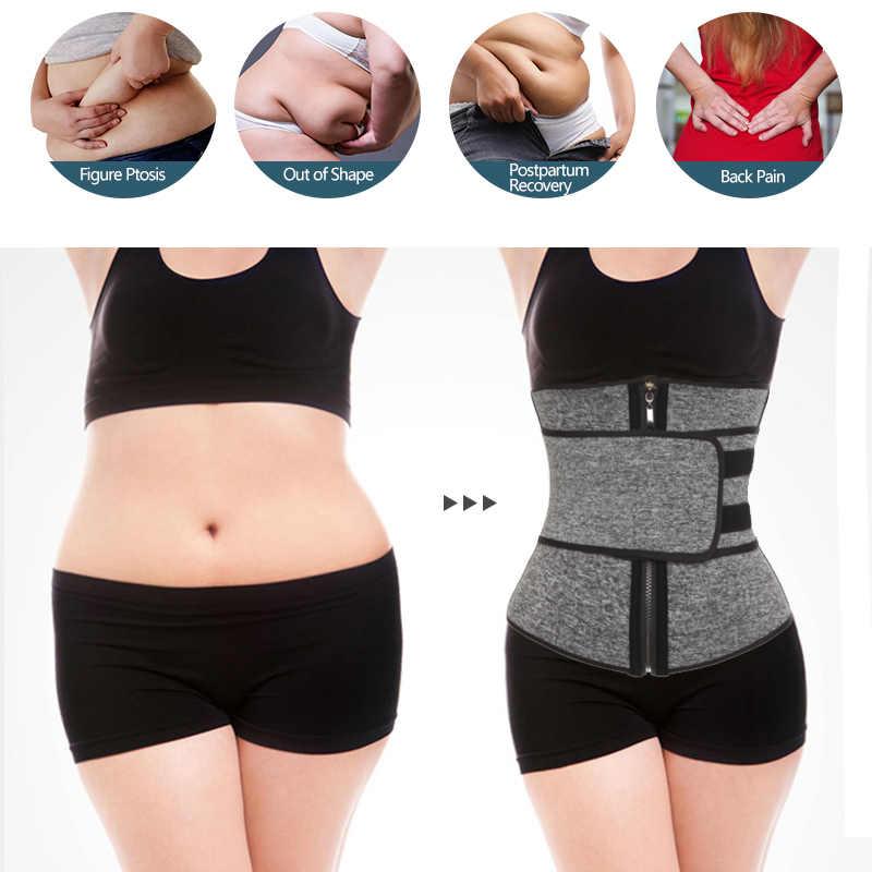 9 huesos corsés entrenador de cintura neopreno Sauna sudor cinturón adelgazante Fajas Colombianas modelado correas faja para perder peso