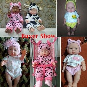 Image 5 - 30/41cm nouveau né bébé Simulation poupée doux enfants Reborn poupée jouet garçon fille émulé poupée enfants cadeau danniversaire maternelle accessoires