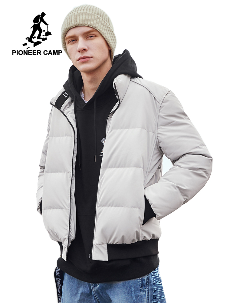 Pioneer Camp New Down Jacket Men Coat Winter Thick Black Blue Yellow Khaki Colors Brand Jacket Men Clothes 2019 AYR908240