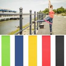 Эластичные ленты для йоги 5 разных цветов домашнего фитнеса