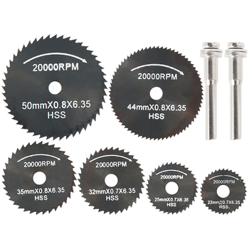 8PCS Wood Saw Blade Disc Circular Saw Blade Rotary Tool for Dremel Metal Cutter Power Tool Cutting Discs Drill Mandrel Cutoff tool tool lateralus 2 lp picture disc