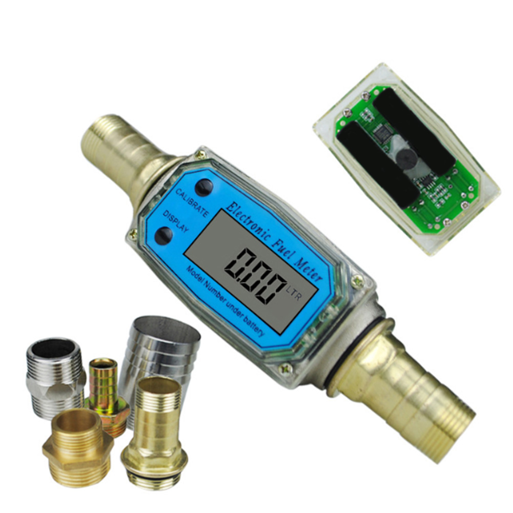 K24 Tools Electronic Portable Lightweight Flow Meter Measuring Aluminum Alloy High Accuracy Digital Display Easy Operate Fuel