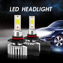 2Pcs/set NEW Car LED Headlight Bulbs MINI D9 9005/9006 HB3 HB4 30W Automobile Highlight COB Headlamp 6500K 3000LM 12/24V