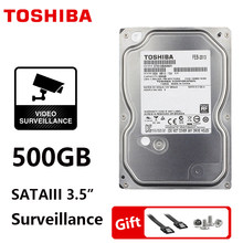 "TOSHIBA 500GB Surveillance Internal Hard Drive Disk 3.5"" DVR NVR CCTV Hard Drive Disk HDD HD SATA 3 5700RPM 32M 3.5"" Harddisk(China)"