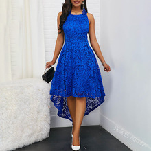 Bellflower Halter Lace Party Dress Women Strapless Sexy Irregular Dresses Ladies Large Size 5XL Elegant Womens