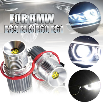 цена на 2PCS 45W White Angle Eyes LED Marker HALO Ring Light Bulb Super Bright Led Energy Save For BMW E39 E53 E60 E61