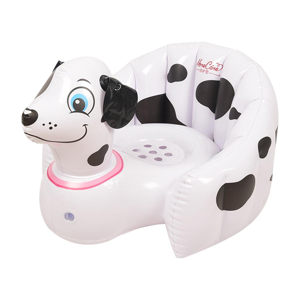 Baby Learning Sea Practice Sitting Position Inflatable Seat Bath Stool Dining Chair Sofa Baby Music Portable Folding Bath Stool