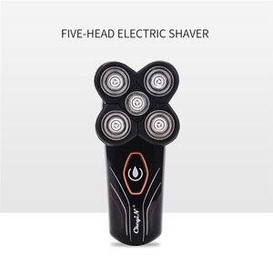 Image 4 - Rasoir électrique Rechargeable pour hommes, Machine de rasage tondeuse à barbe, avec 5 lames indépendantes flottantes, pour laver le corps entier