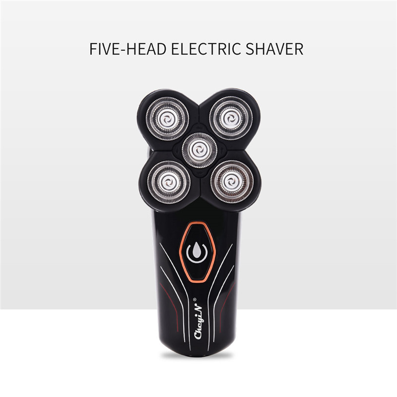 Rechargeable Razor Whole Body Washing Electric Shaver Shaving Machine Men Beard Trimmer with 5 Independently Floating Blades