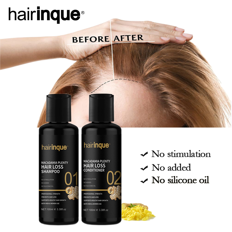 11.11 Hairinque Macadamia Plenty Hair loss Shampoo Conditioner Set For Hair Regrowth Repair Hair root Thicken Hair Care Set image