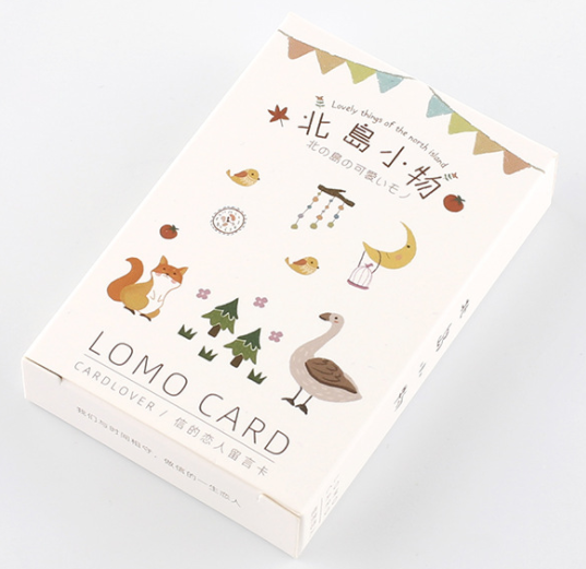 52mm*80mm Little Thing Paper Greeting Card Lomo Card(1pack=28pieces)