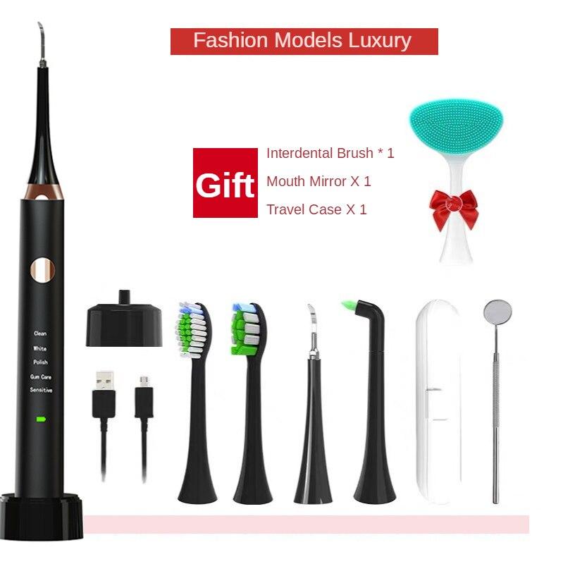 USB Intelligent Ultrasonic Teeth Cleaner, Waterproof Teeth Cleaner, Stone Remover, Teeth Cleaning And Brushing Set Teeth Remover