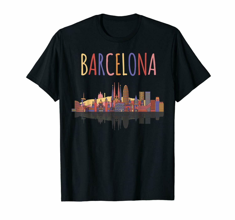 Travel In Barcelona Spain Skylight Roman Kingdom Of Aragon Black T-Shirt S-3Xl