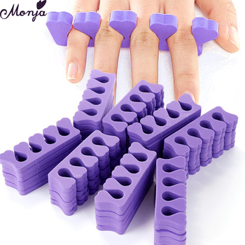 Monja 50/100pcs Pack Nail Art Toes Separators Fingers Random Color Soft Sponge UV Gel Polish Beauty Manicure Pedicure Tools 1