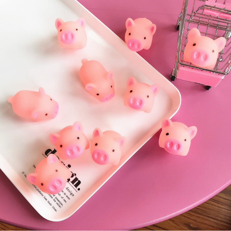 Soft cute cute pink net red pig toy venting whole person pinch called spoof toy in Squeeze Toys from Toys Hobbies