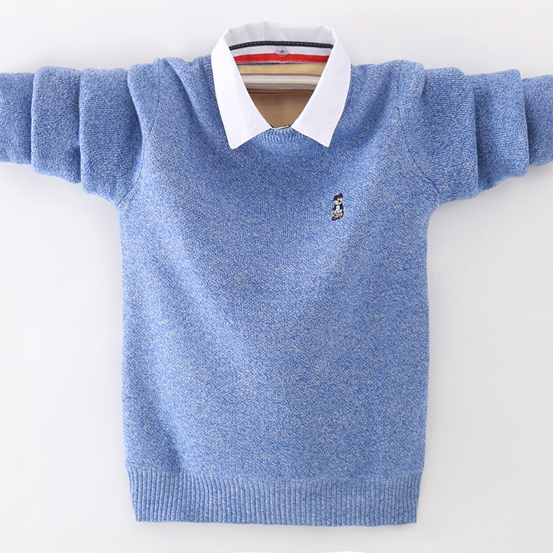 winter children's clothing Boy's clothes pullover Sweater Kids clothes Cotton products Keep warm Boy sweater Thicker 2