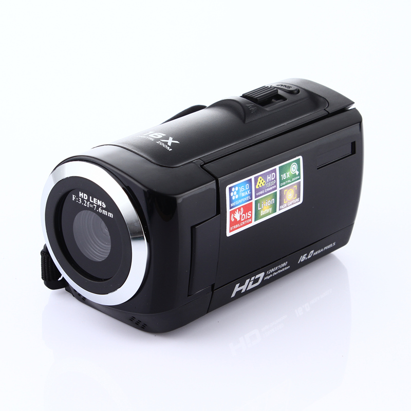 Camcorder Video-Camera Zoom 1080P 16x HDV 16MP 270-Degree Sensor Tft-Lcd-Screen COMS