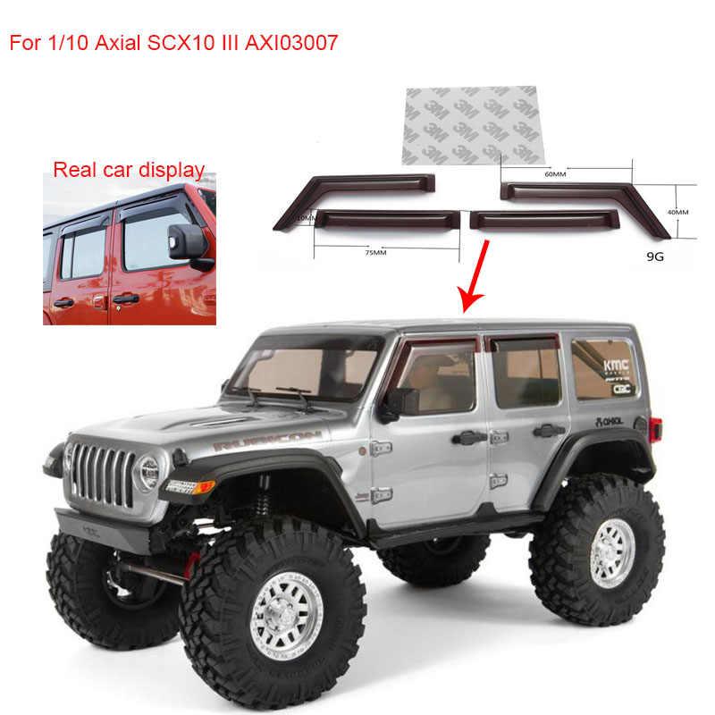 1set Window Sun Visor Wind Rain Shield Deflector For 1 10 Axial Scx10 Iii Axi03007 Jeep Wrangler Rc Car Accessories Decoration Parts Accessories Aliexpress