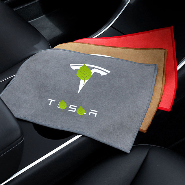 Asciugamano per pulizia Auto addensato in pile corallo Premium cura in microfibra asciugamani per acqua forte per Tesla modello 3 X S accessori Auto