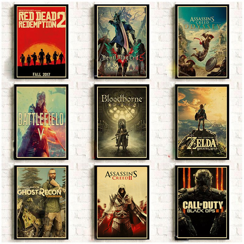 Classic Game Retro Poster Vinatge Wall Decoration Good Quality Printed Wall Painting Home Room Art Wall Posters
