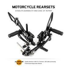 Reposapiés de aluminio para motocicleta CNC, juego de pedales traseros para Honda CBR600RR CBR 600 RR 2007 2008 2013 2014 2015 2016