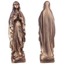 Смола Madonna благословил Сент-Статуя Девы Марии фигура Иисуса Христа настольная Статуэтка женщины